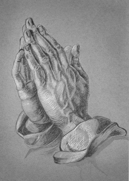молящиеся руки гравюра